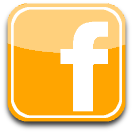 Orange facebook icon