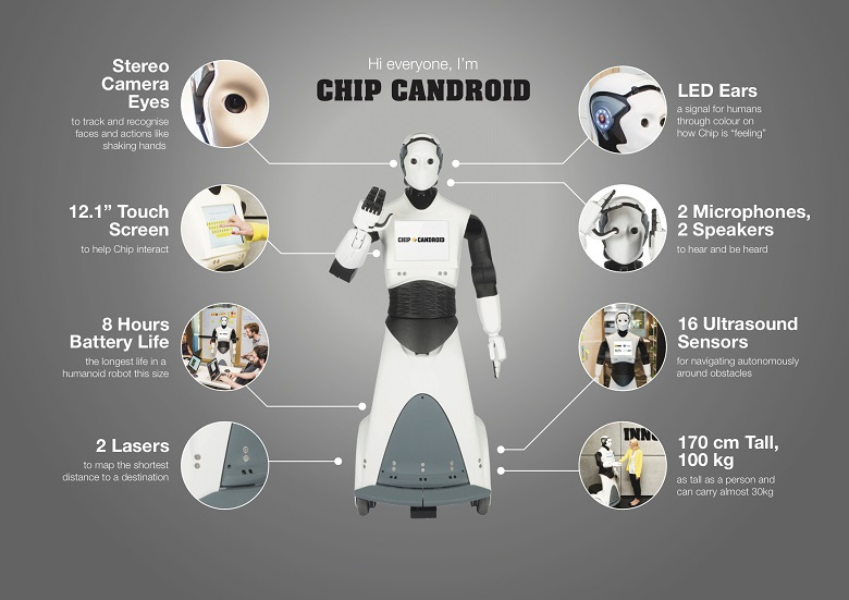 Infographic showing details about Chip Candroid