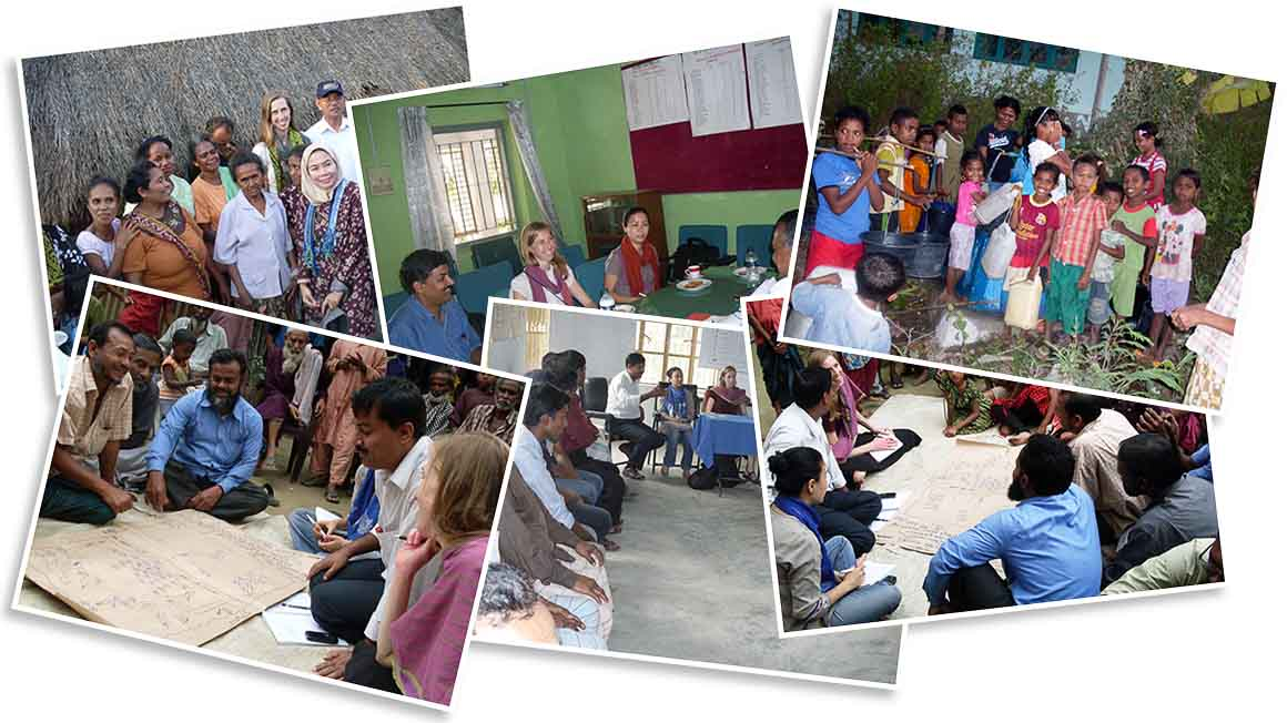 Collection of photos from the Enabling access to clean water and sanitation research project