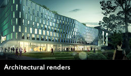 Science and Graduate School of Health Building architectural render
