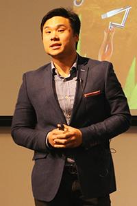 Michael Widjaja presenting