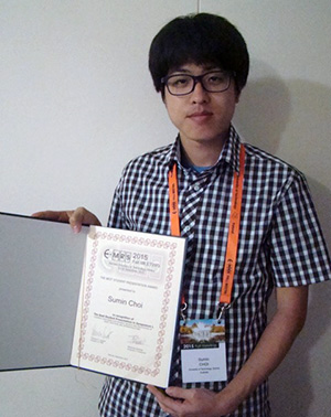 Sumin Choi from the School of Mathematical and Physical Sciences has won a Best Student Presentation at the European Materials Research Society Conference