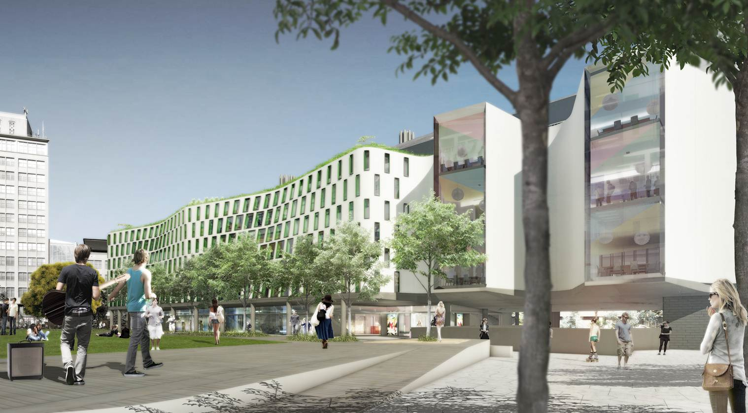 Architectural Render Of Science And Graduate School Of Health Building    Thomas Street View