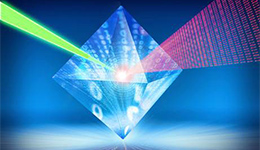 A nanodiamond with information passing through it