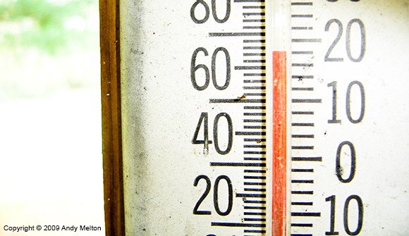 Mercury rising in a thermometer