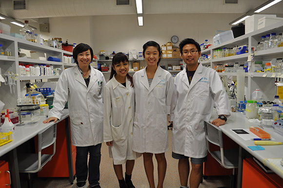Left to right: Jaye Lu, Erica Lee, Christel Leong and Andrew Liew