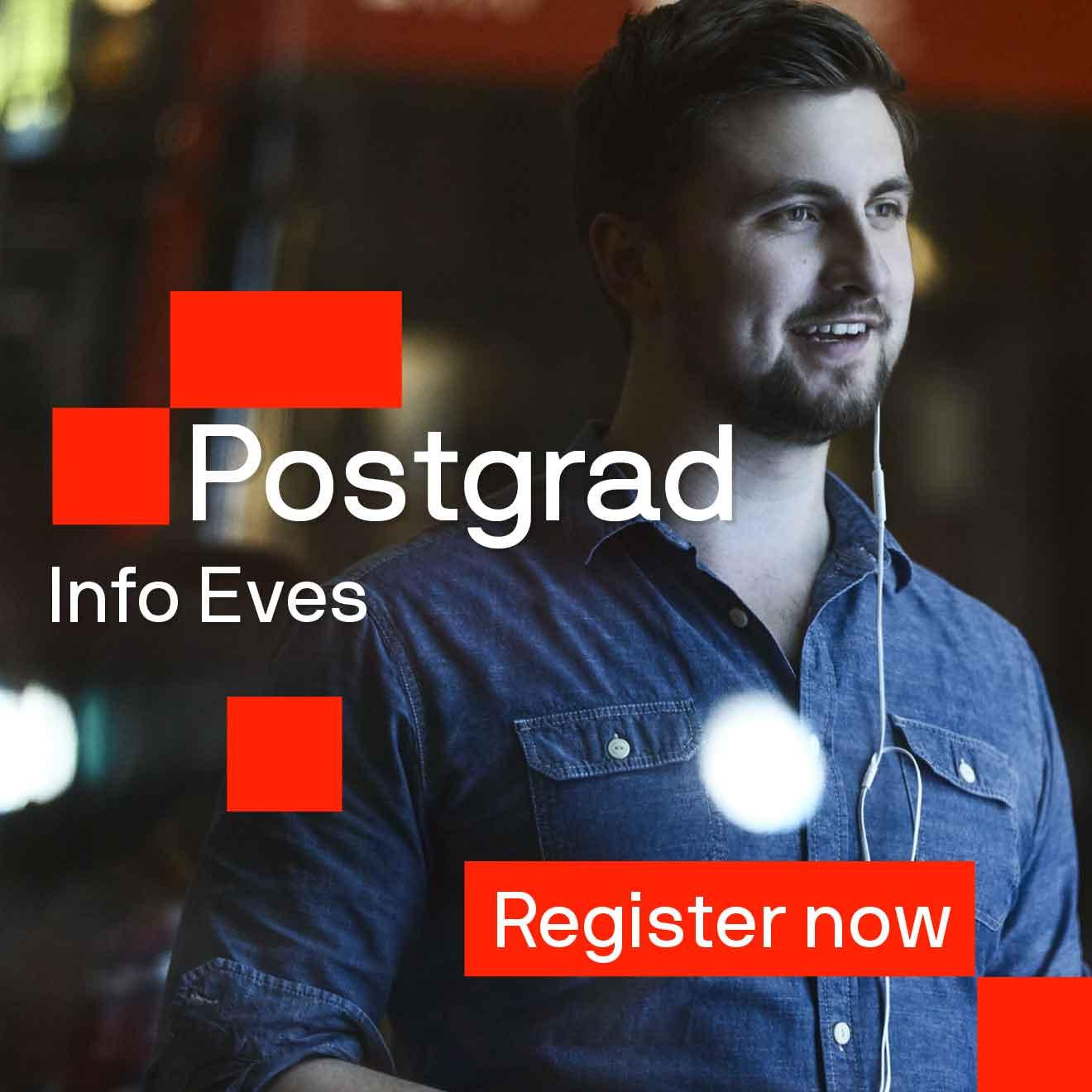 Promo tile for postgrad info events