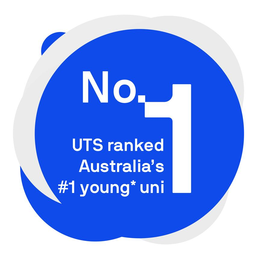 UTS is ranked number 1 young uni in Australia