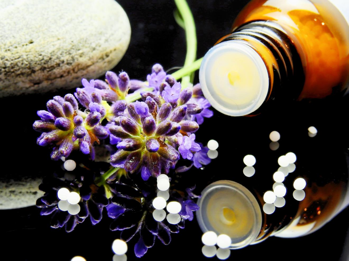 Naturopathy - bottle and flora