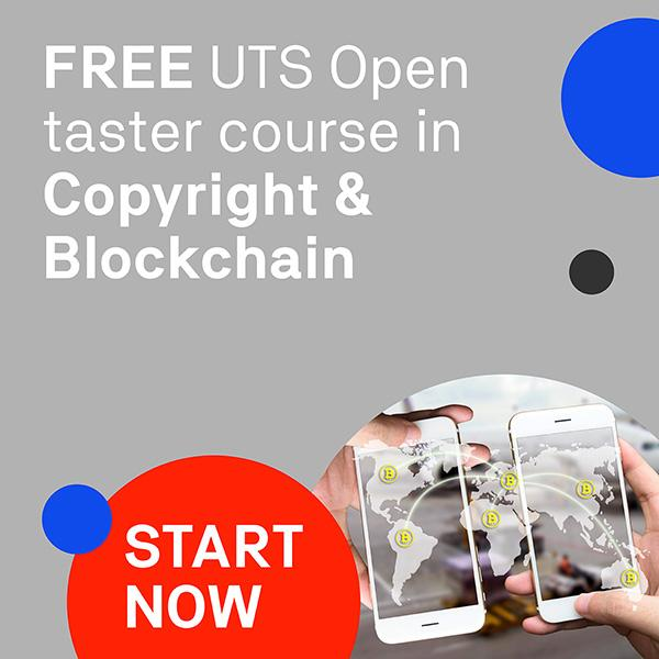 UTSOpen free course in Copyright & Blockchain