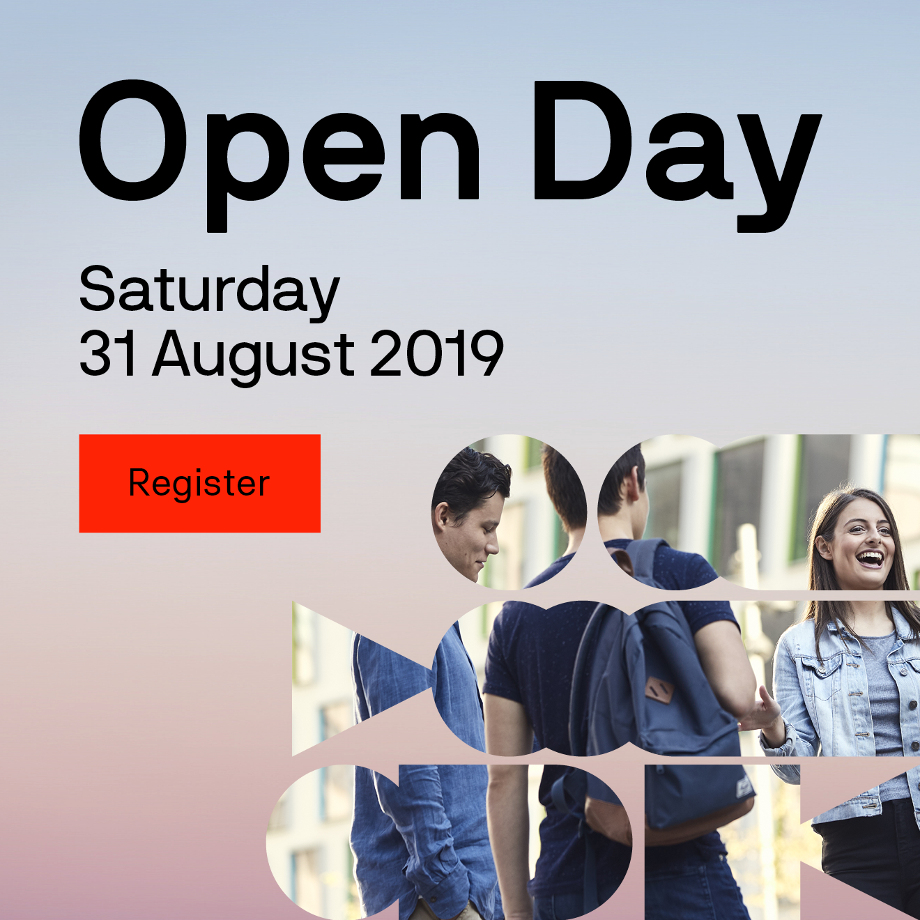 Open Day Saturday 31 August 2019 Register