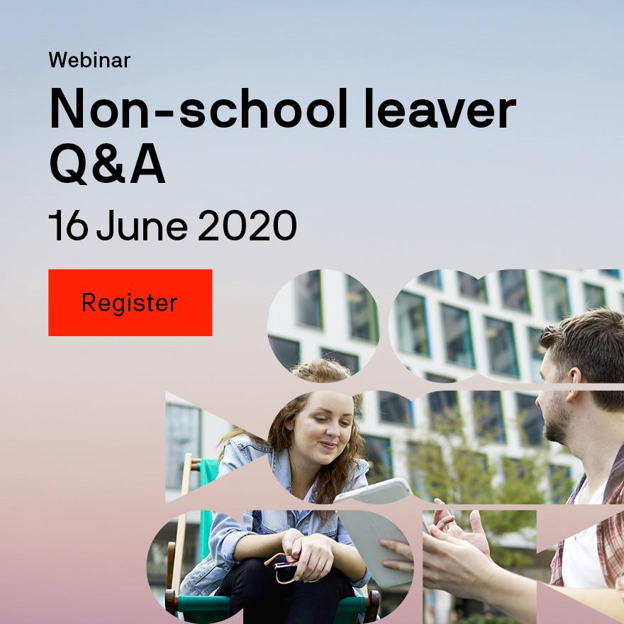 Non-school leaver Q&A webinar two students talking