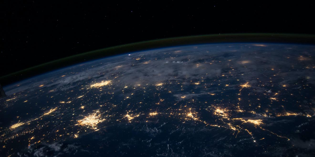 A look at the Earth at night from outer space.