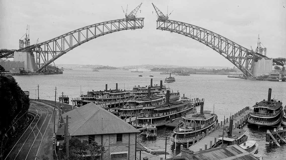 Photo of Sydney Harbour Bridge, c.1930
