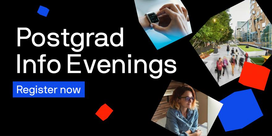 UTS postgraduate information evening banner