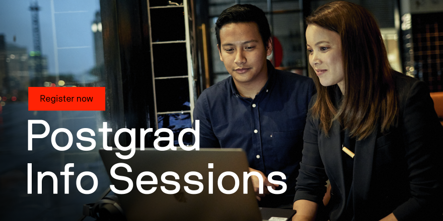 Postgraduate Info Sessions Register now