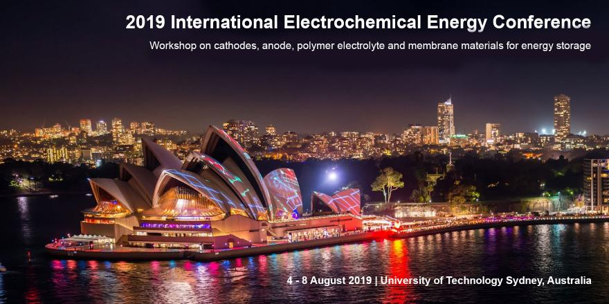 2019 International electrochemical energy conference. Workshop on cathodes, anode, polymer electrolyte and membrane materials for energy storage. Sydney Australia