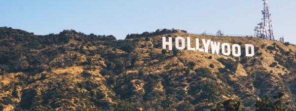 Image of the Hollywood sign in California