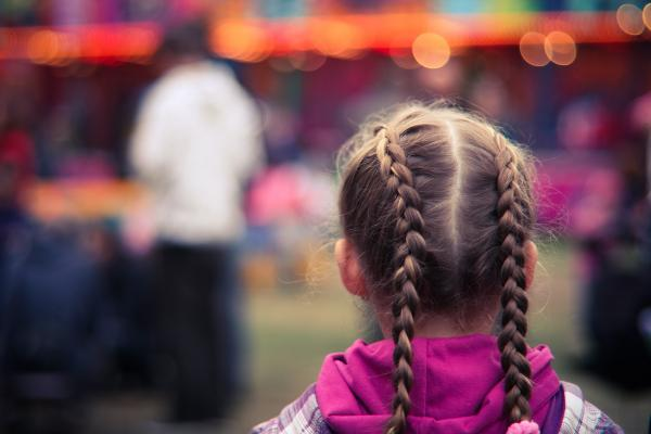 Young girl with braids