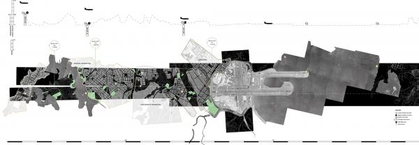 Compound architectural city map by Junru Yang and Katrina Shaw