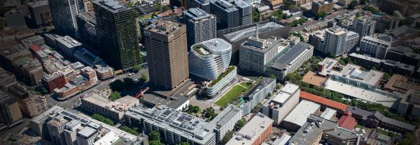 Birds-eye view of UTS city campus