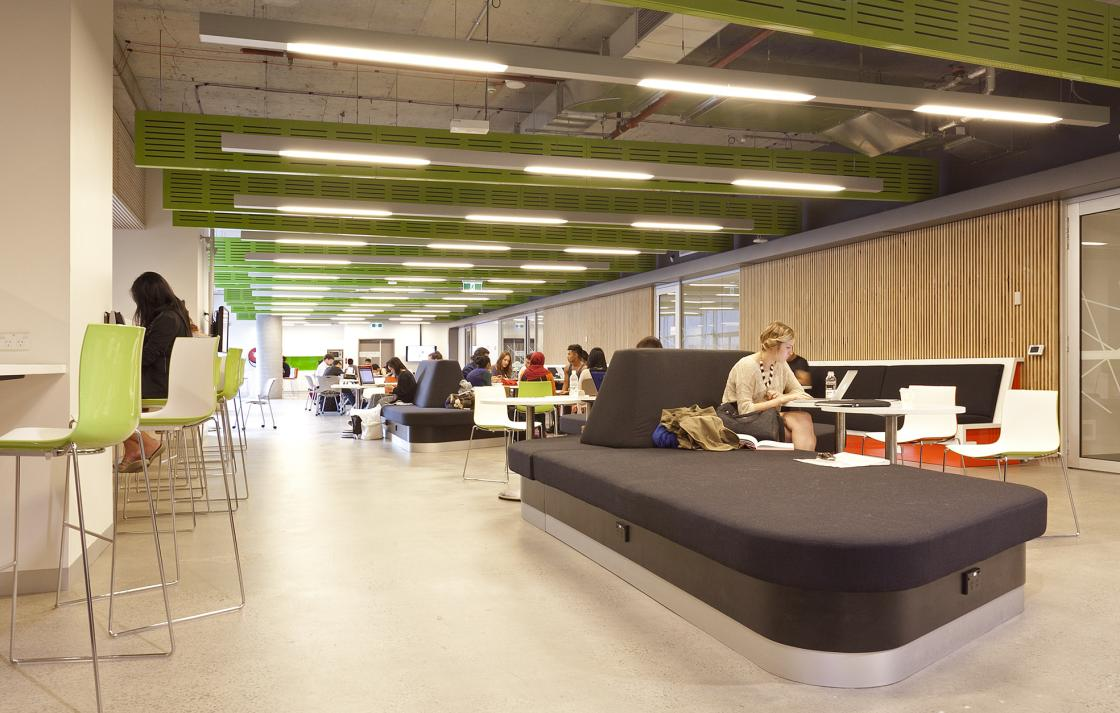 Informal learning space in Building 6