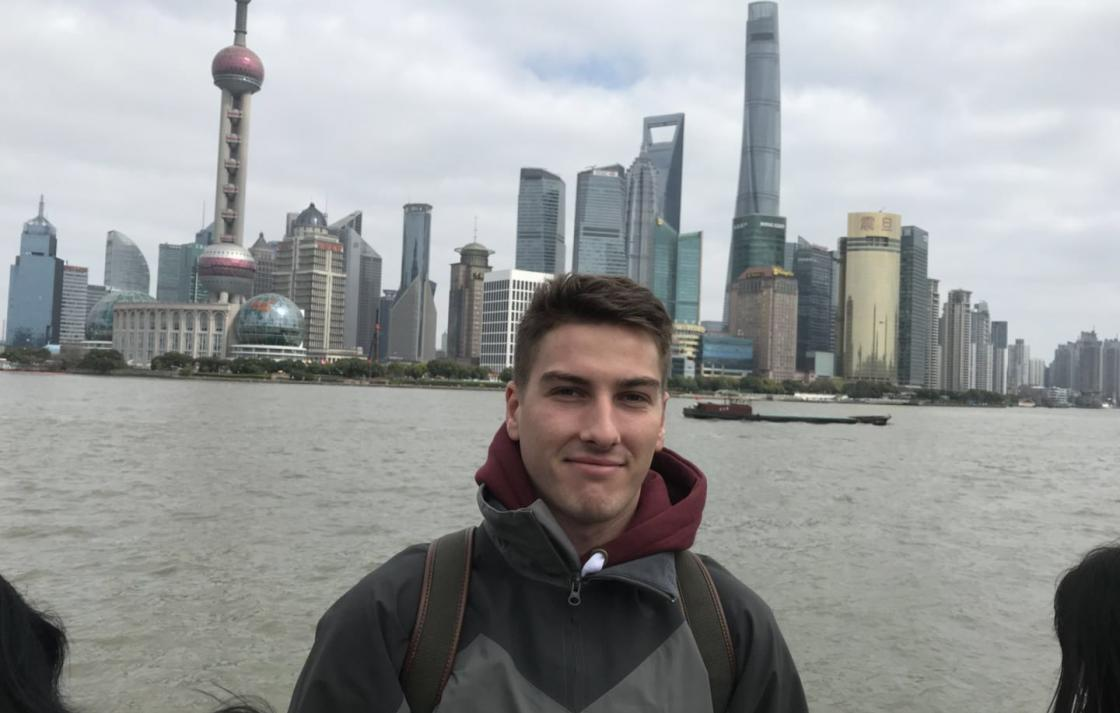 Photo of Morgan in China