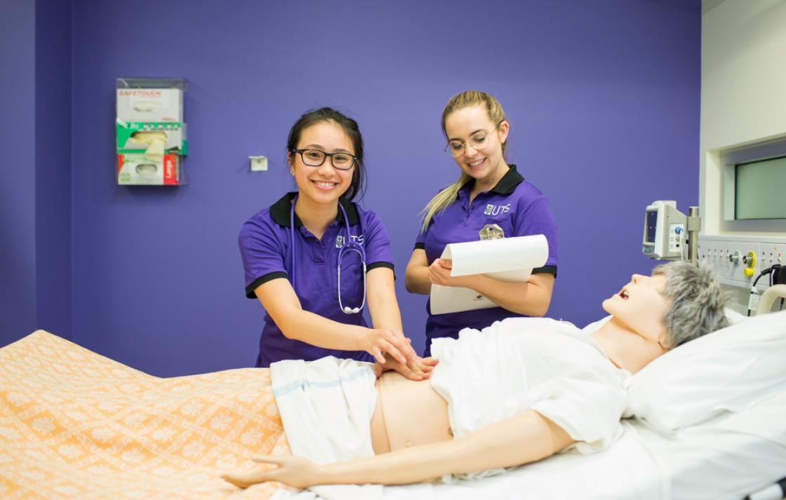 Undergraduate nursing students learn skills in a simulated environment that prepare them for clinical placements