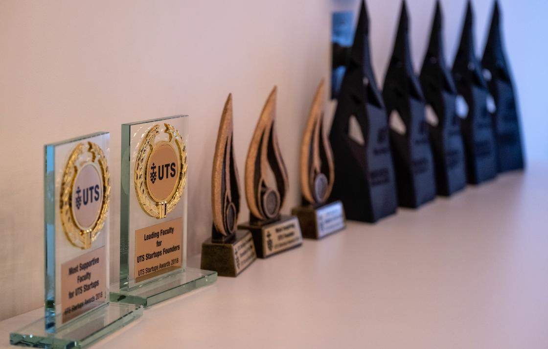 UTS Startups Awards Trophies