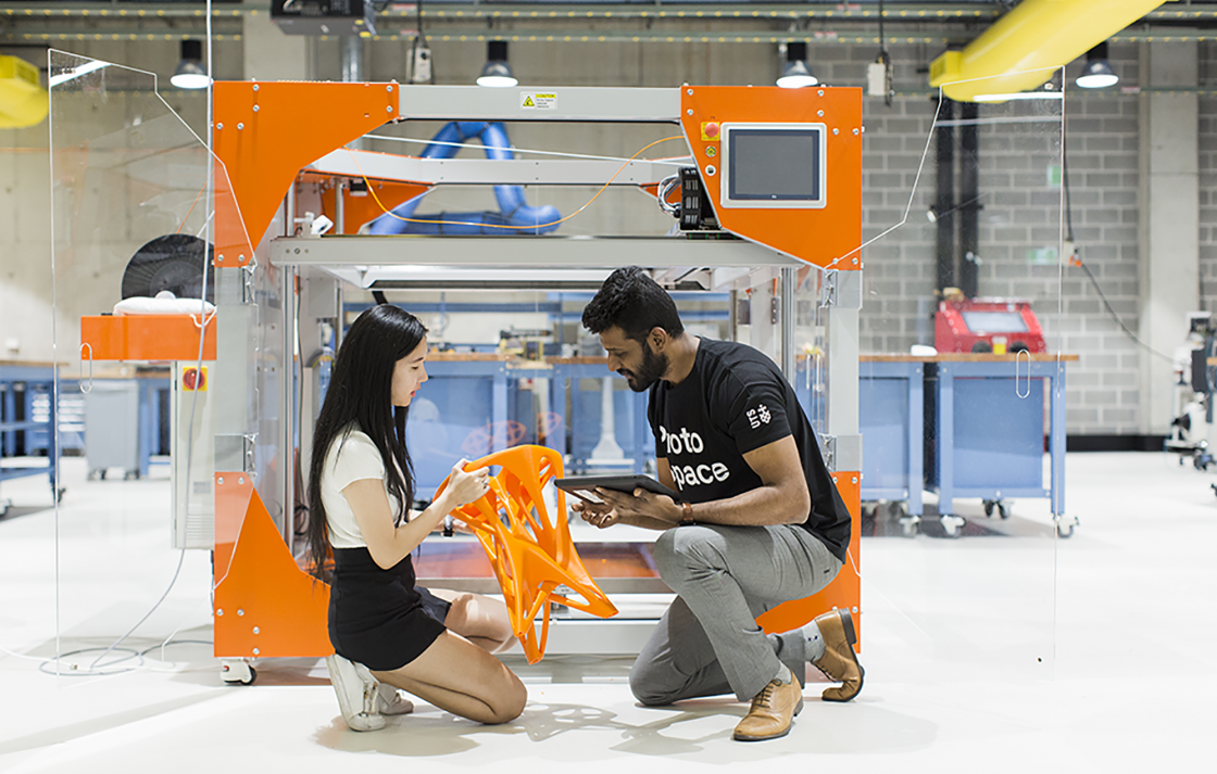 Students develop the skills needed to succeed in the workplace in the UTS ProtoSpace