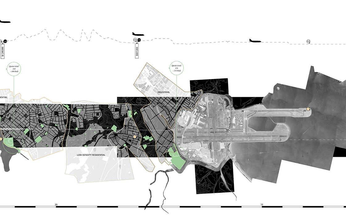 Landscape architecture drawing by Junru Yang and Katrina Shaw