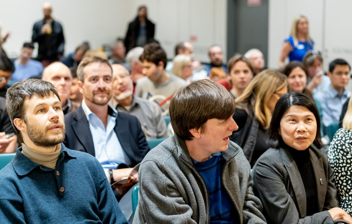 Audience at Maths in Music event