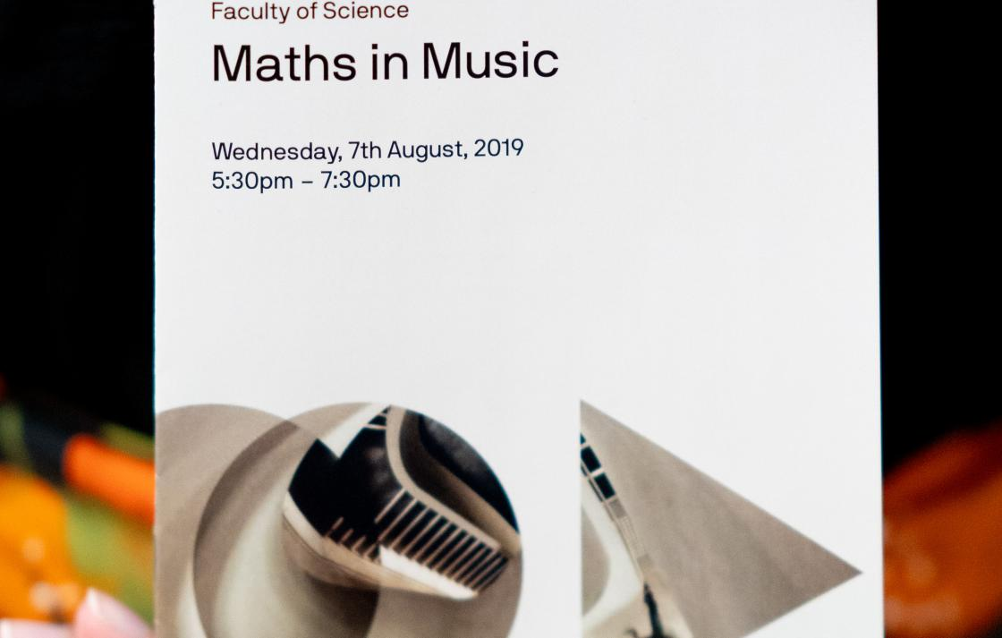 Maths in Music brochure image
