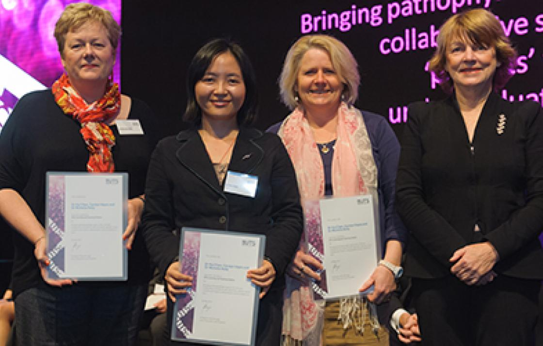 Dr Hui Chen, Carolyn Hayes, Dr Michelle Kelly and Professor Shirley Alexander