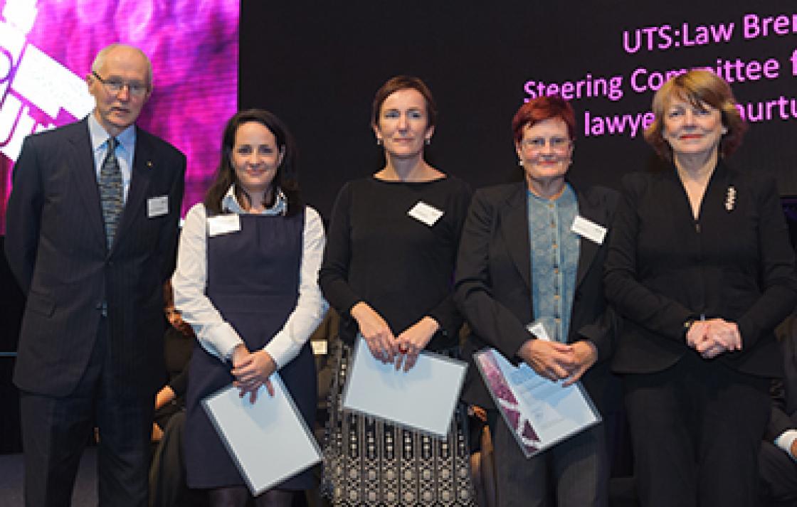 Dr Paul Redmond, Monica Read, Dr Janet Wangmann, Maxine Evers and Professor Shirley Alexander