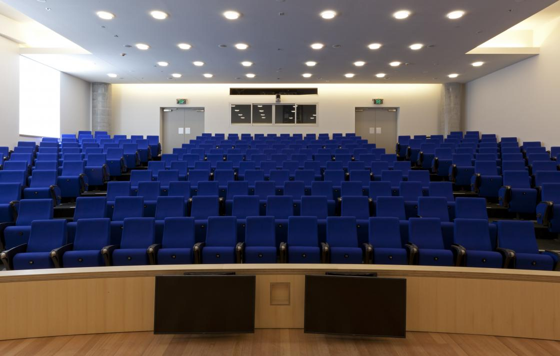120 seat Chau Building auditorium