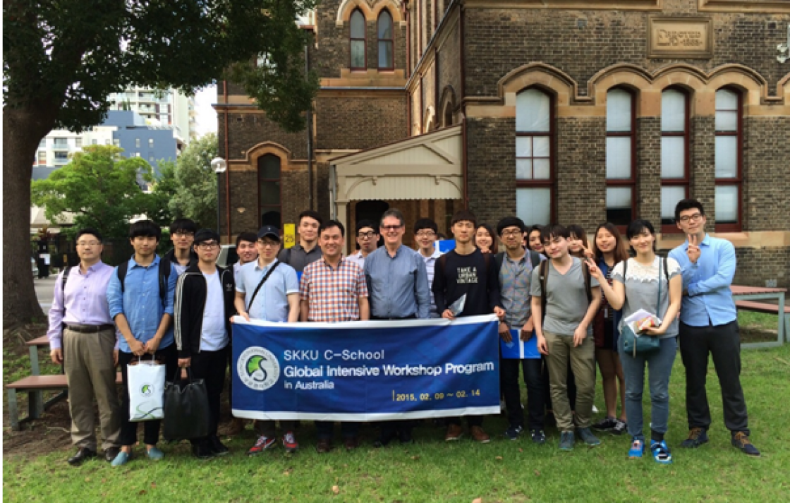 "Delegation from Korea's Sungkyunkwan University's ""Creative Informatics"" program"