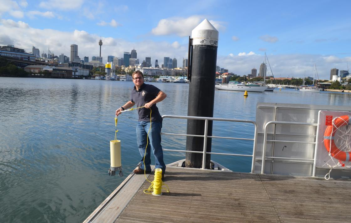Tom Jeffries is the recipient of a Transfield Grant that will help to monitor the impact of microorganisms introduced via anthropogenic pollutants within Sydney Harbour