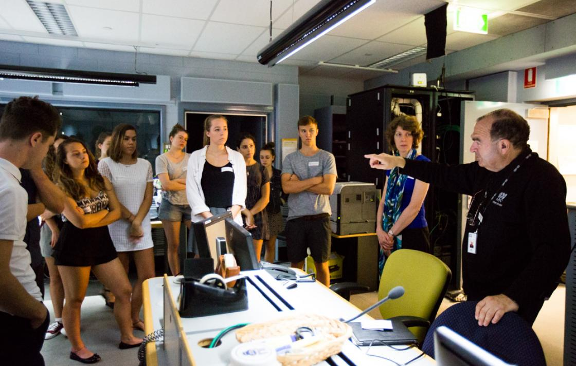 BCII Students at ABC Studios in Ultimo Sydney
