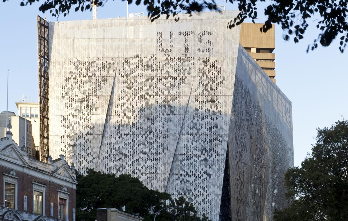 UTS Building 11, exterior by day