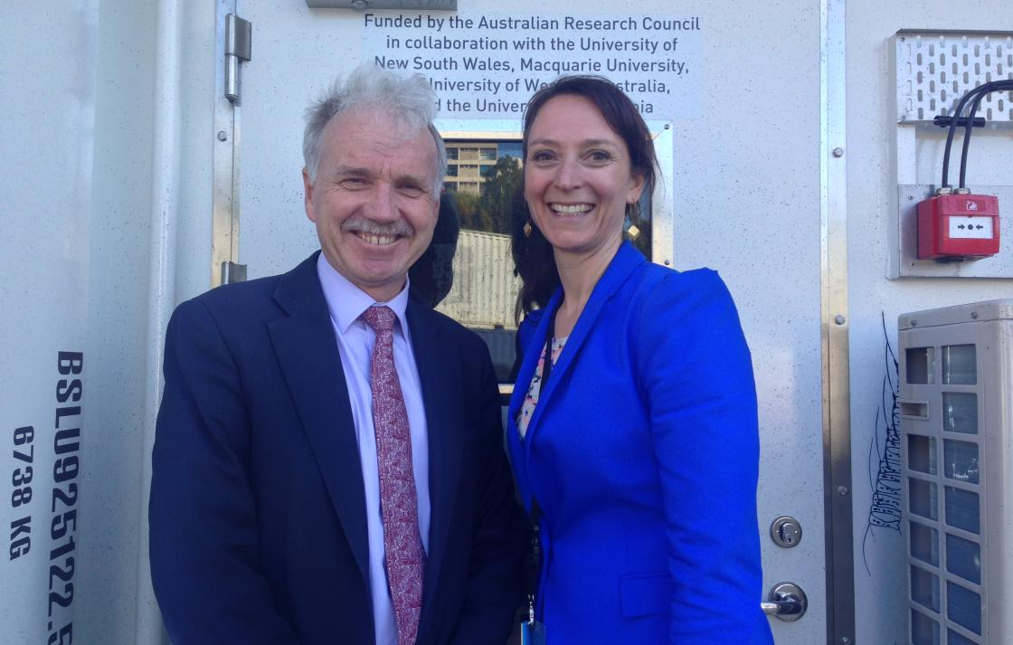 Launch of the Marine National Facility The Investigator  and Martina Doblin's mobile micro CSI laborartory