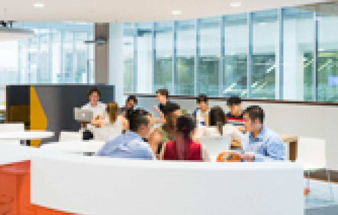 Photo of students in one of the UTS student workspace areas