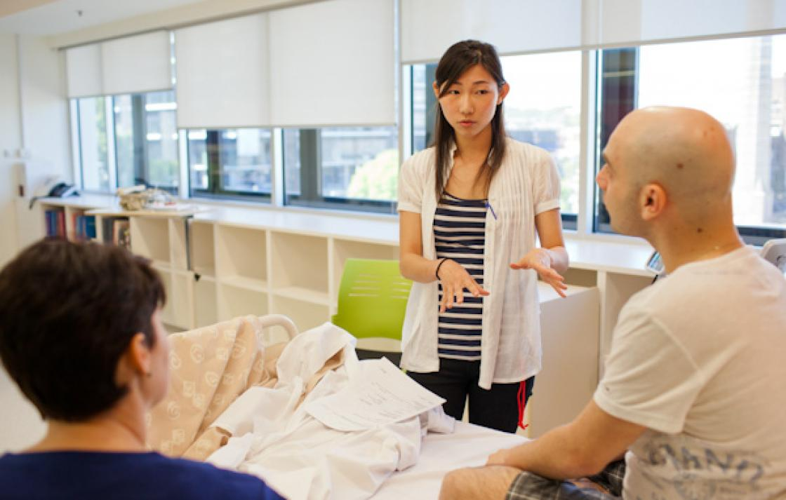 Role plays help students develop their patient communication skills