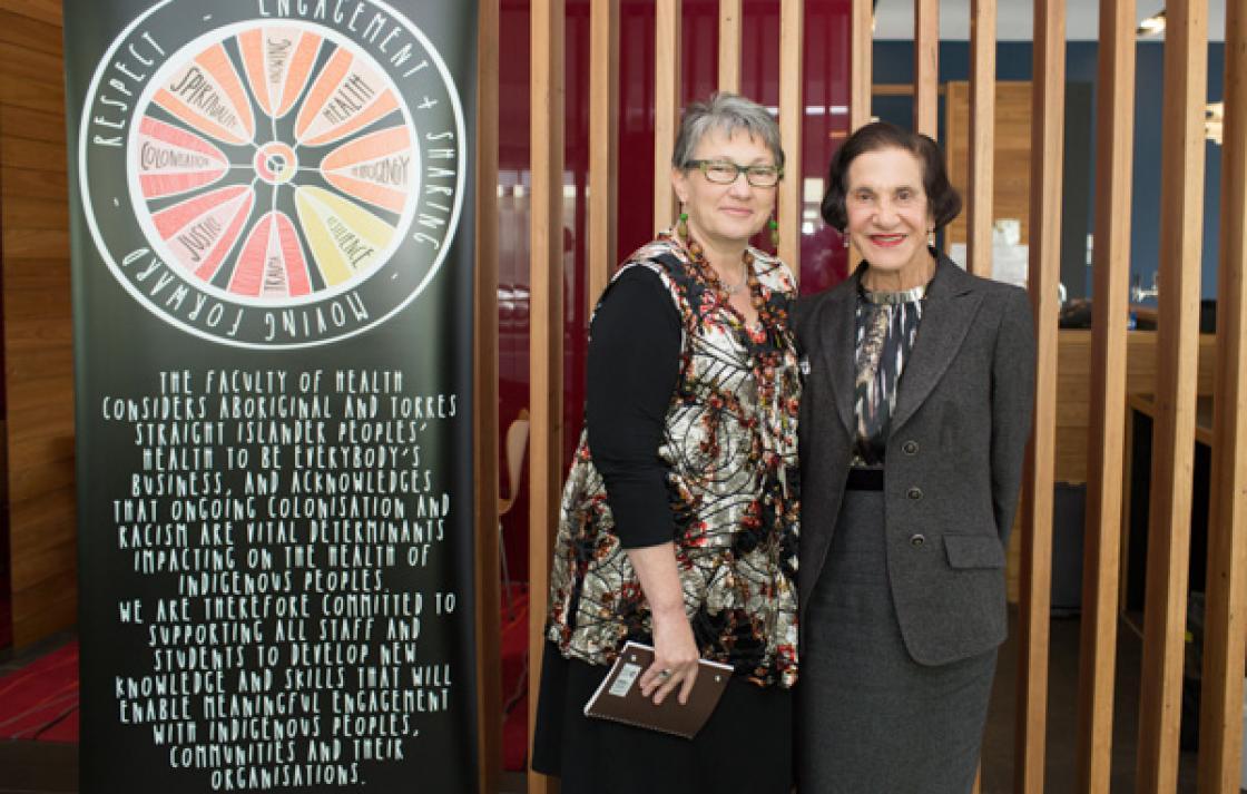 Prof Juanita Sherwood and NSW Gov Marie Bashir