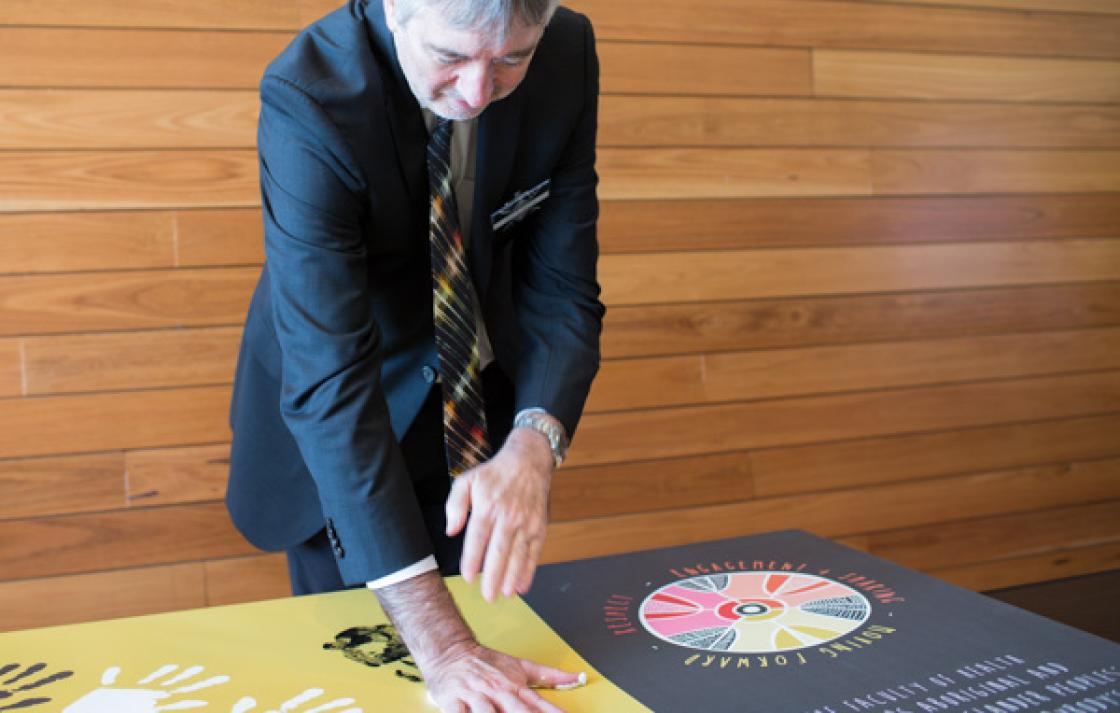 Showing support, UTS Senior Deputy Vice Chancellor, Prof Peter Booth