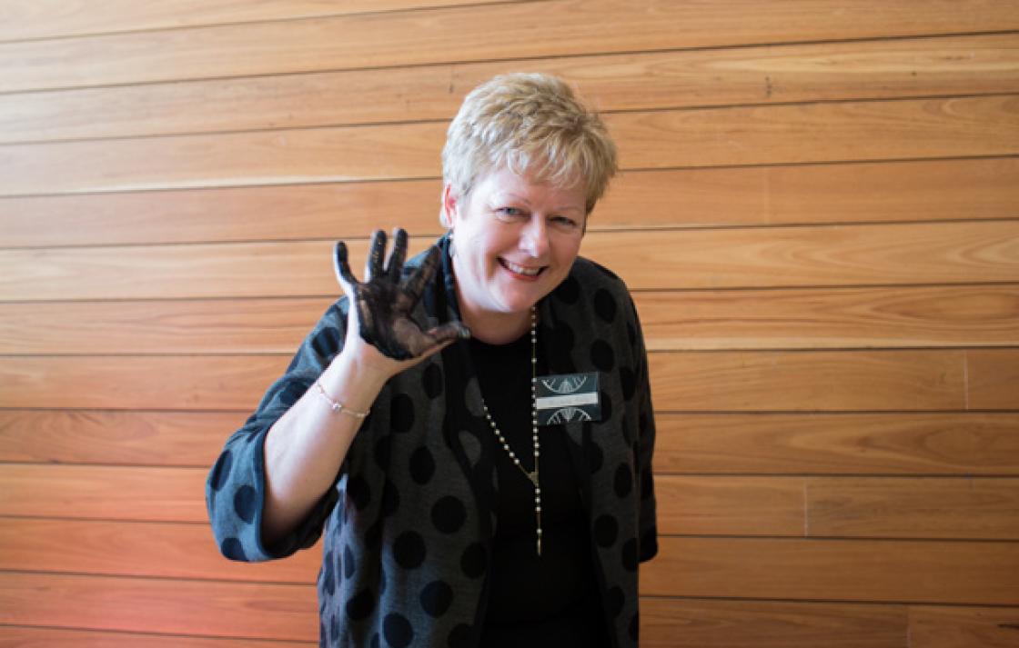 Showing support, Nursing lecturer Michelle Kelly