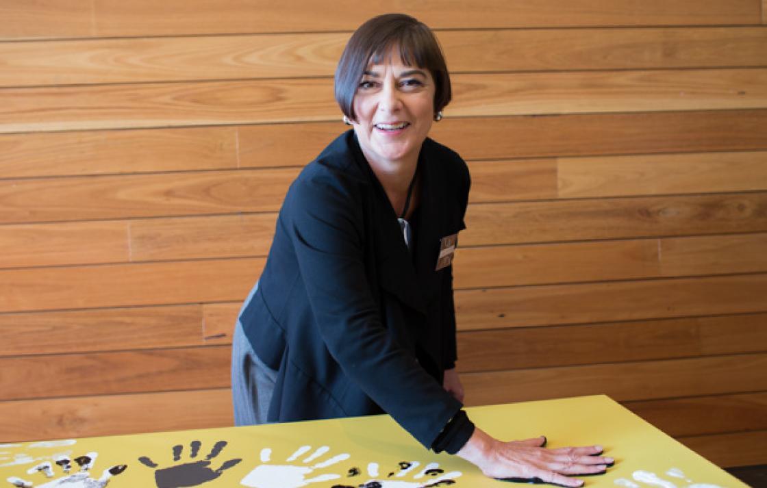 Showing support, Prof Jane Stein-Parbury