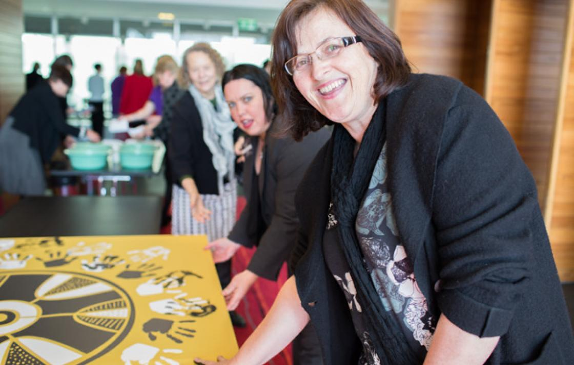 Showing support, midwifery course coordinator Rosemarie Hogan