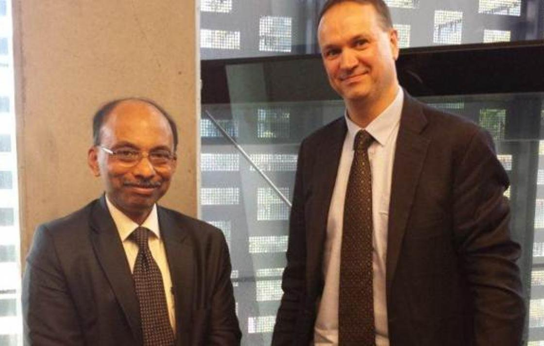 K Ananth Krishnan, Global CTO of Tata Consultancy Services (TCS) met with Prof Ian Burnett, Dean of the Faculty of Engineering and Information Technology