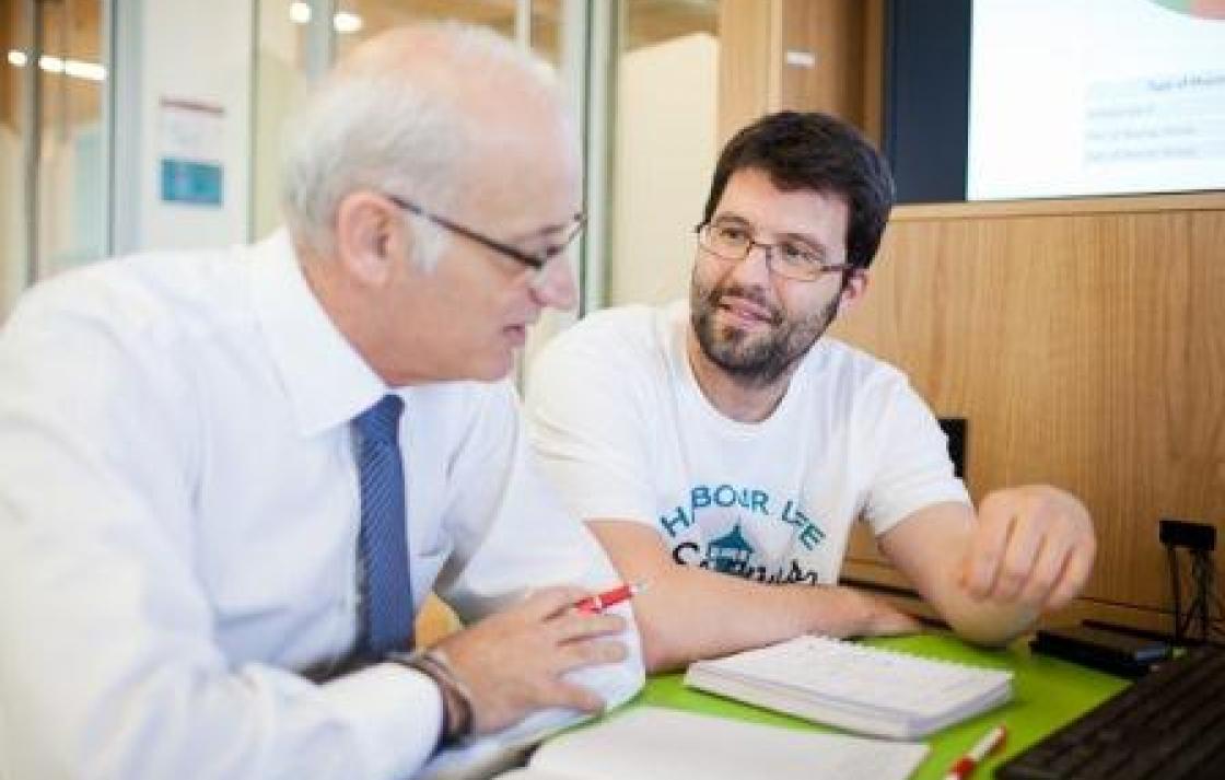 Prof Benrimoj and Dr Hernandez work together